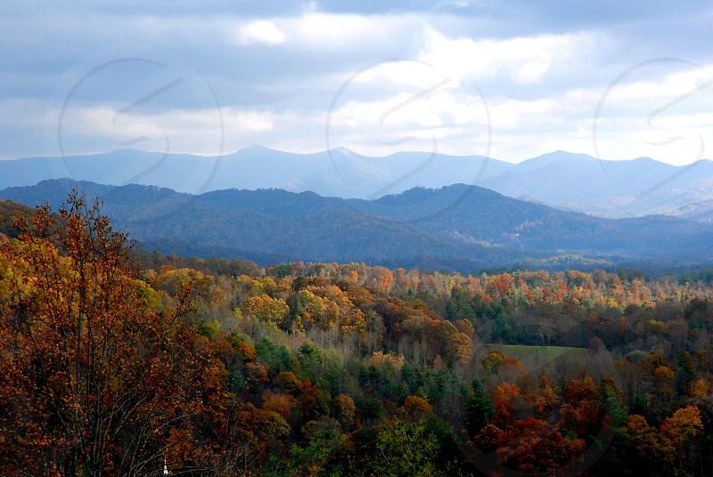 Asheville North Carolina (USA) in the fall photo