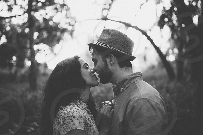 Love kiss engaged engagement  photo