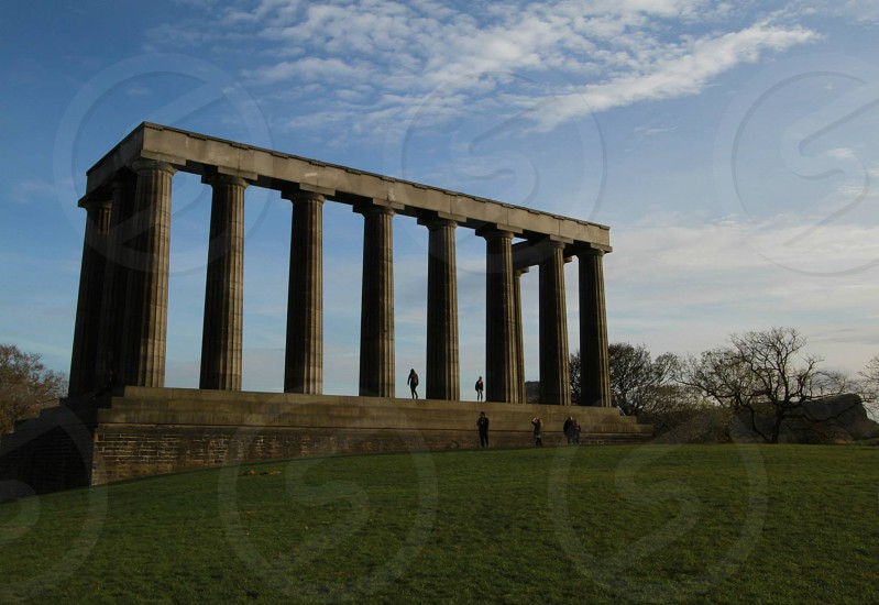 Edinburgh Calton Hill monument photo