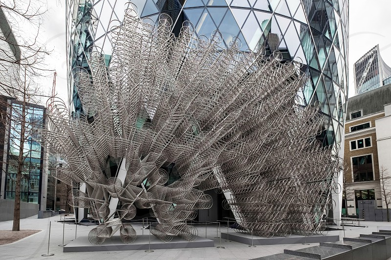 Ai Weiwei's new Forever Sculpture  outside London's Gherkin Building photo