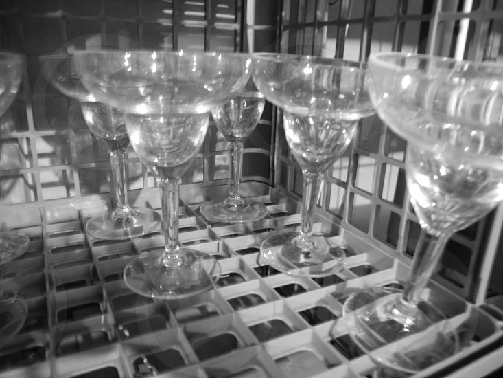 clear footed glasses photo