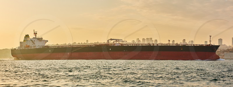 Logistics and transportation of International Container Cargo ship. Freight Transportation Shipping photo