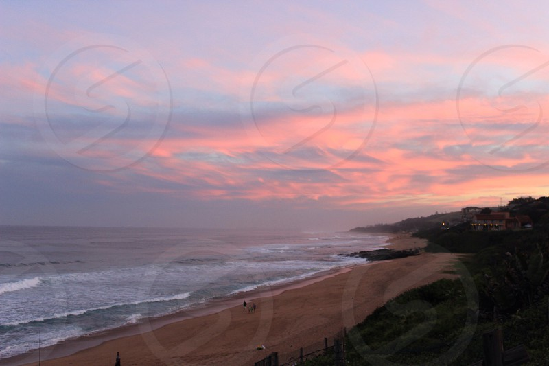 South African sunset on the east coast photo
