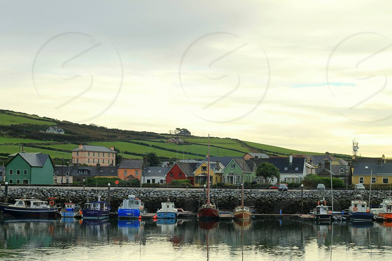 Fishing village in Dingle Ireland. photo