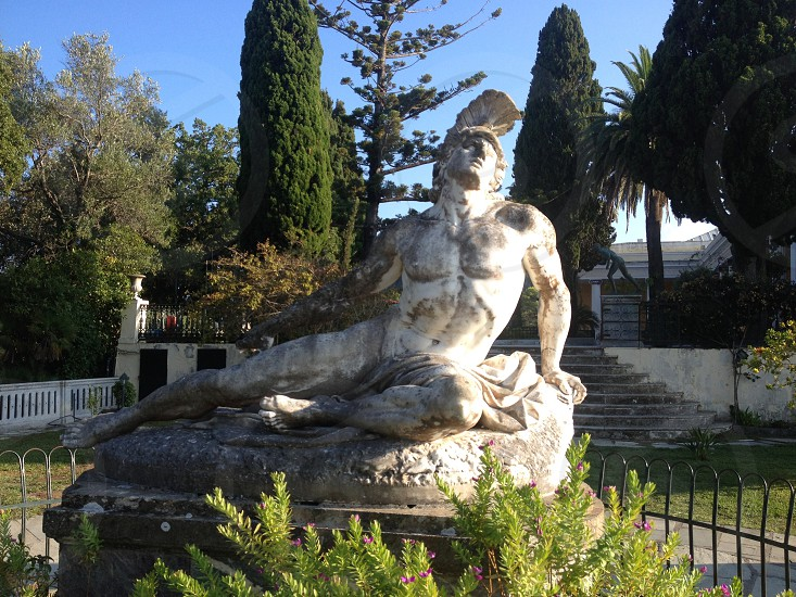 Statue of Achilles at the Palace. photo