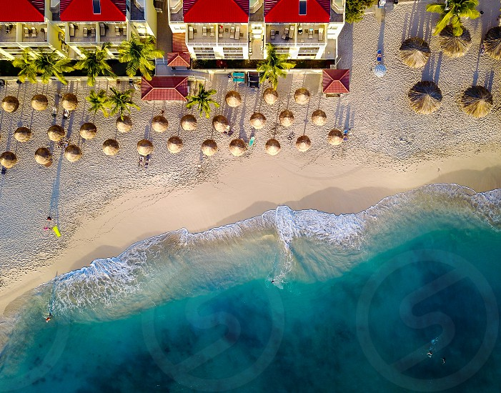 Drone view of the Caribbean photo