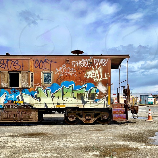 Train car graffiti  photo