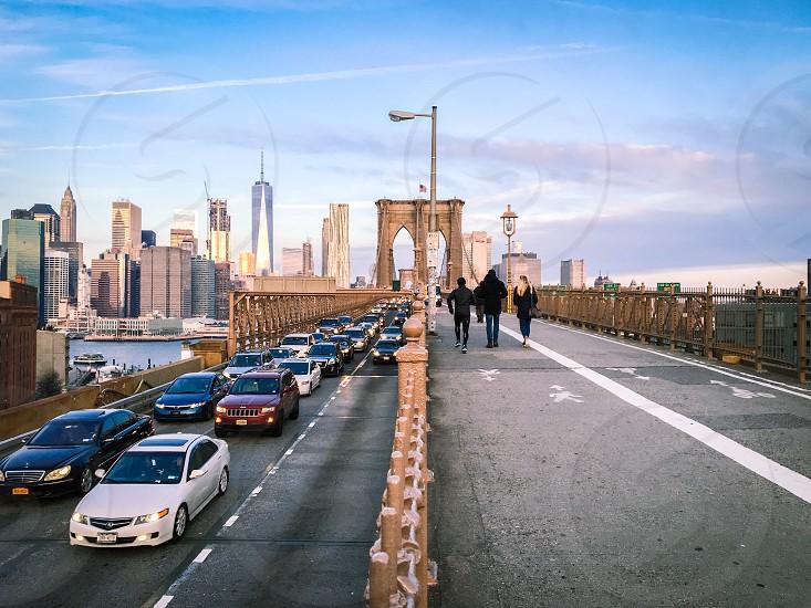 Brooklyn Bridge New York winter photo