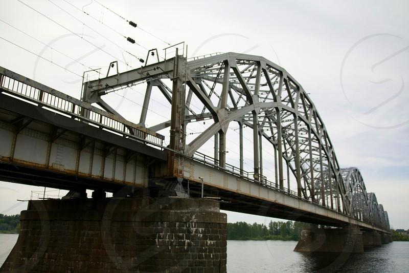 silver arched bridge photo