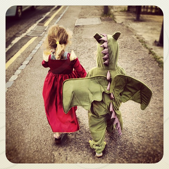 #fancydress #dragon #princess #childsplay #dressup #kidsparty photo