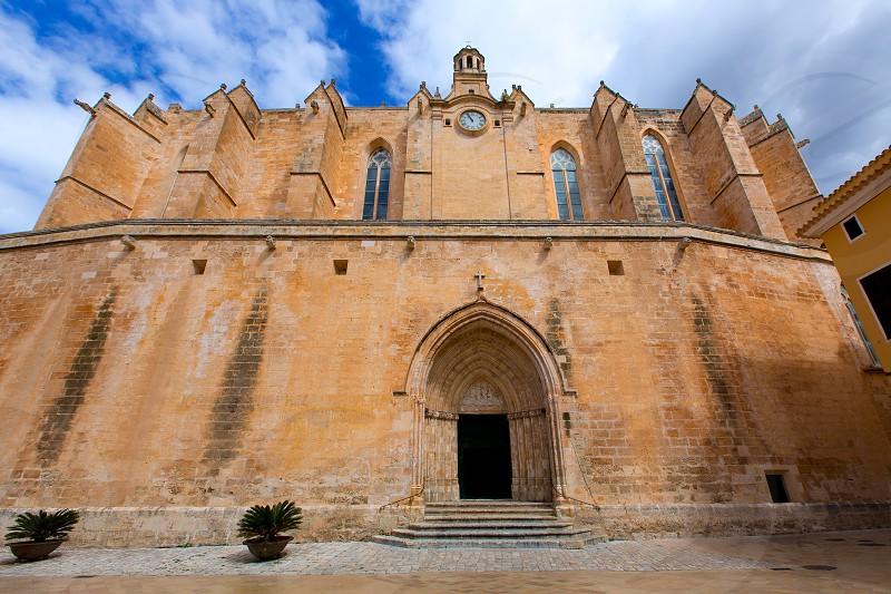 Ciutadella Menorca Cathedral in Ciudadela at Balearic islands photo