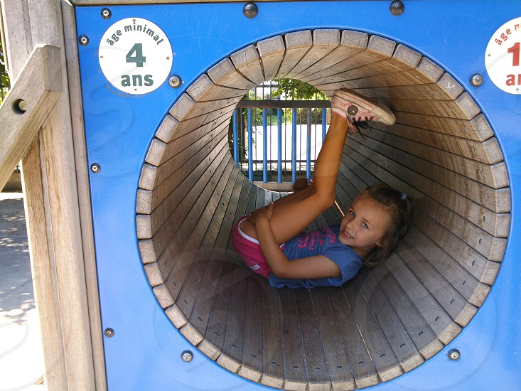 My daughter in a playground in Paris. photo