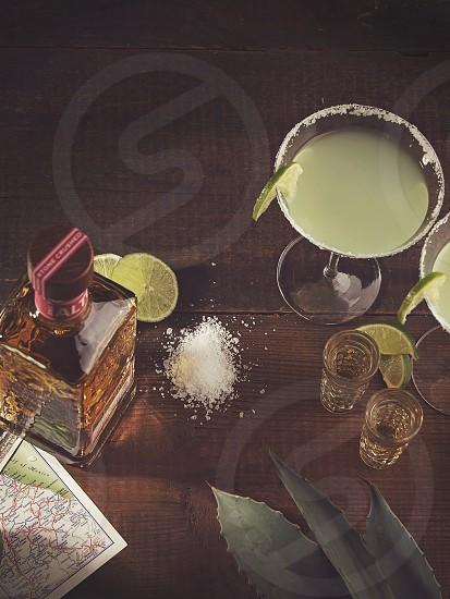 tequila drinks shots agave salt map limes margarita summer photo