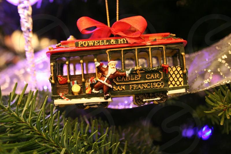 san francisco cable car ornament photo