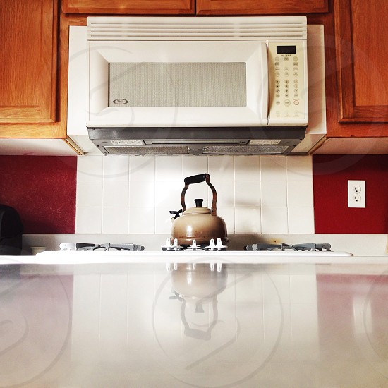 white microwave oven photo