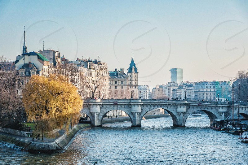 Île Saint-Louis in Paris France photo