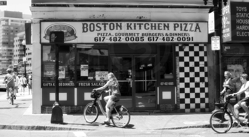 view at the front of boston kitchen pizza house photo