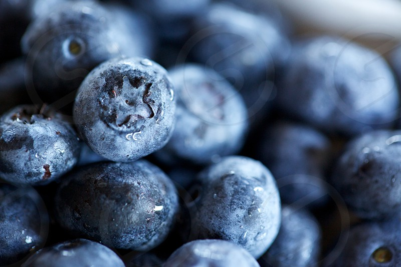 Fresh blue berries photo