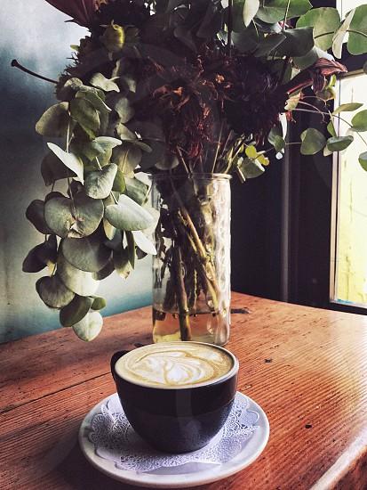Latte latte art bouquet  photo
