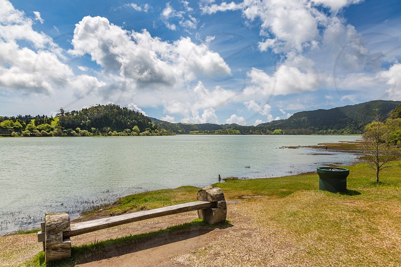 Surroundings of Lagoa das Furnas on Sao Miguel. Sao Miguel is part of the Azores archipelago in the Atlantic Ocean. photo