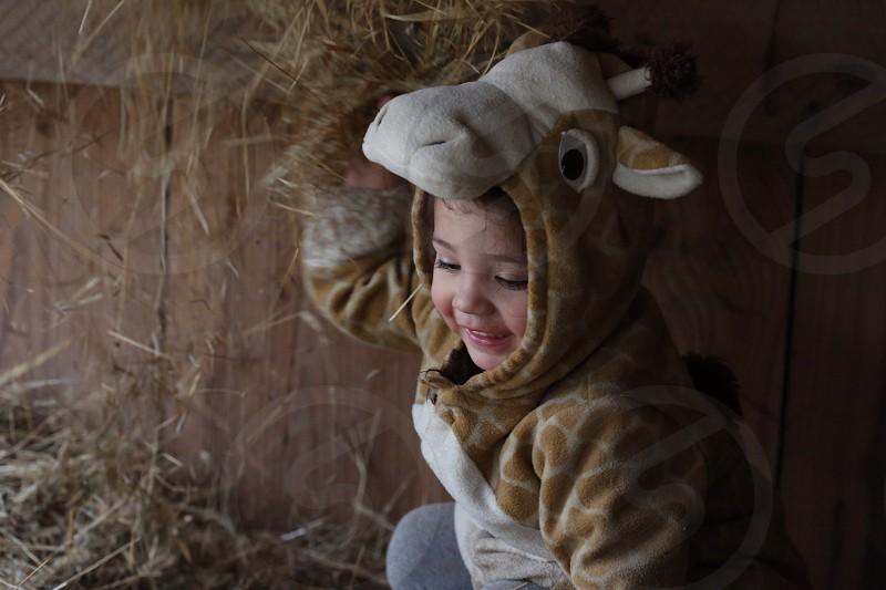 child in a girrafe costume photo