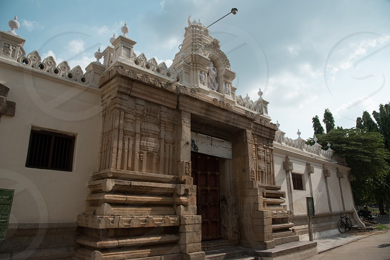 Mysuru Prasanna Krishna Swamy Temple. Note that this is well within the premises of the Mysuru palace and in my opinion requires a property release for photographing the exterior as well photo