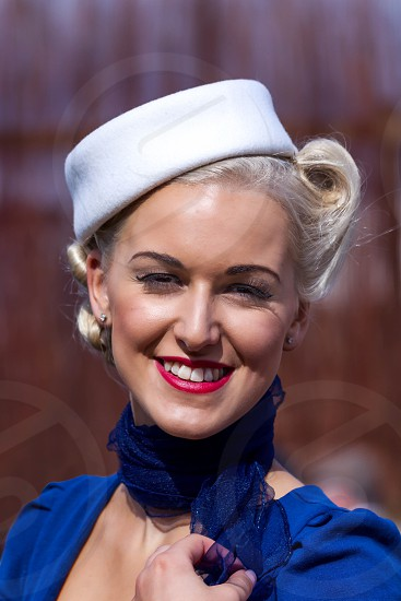 Smiling Woman at the Goodwood Revival photo