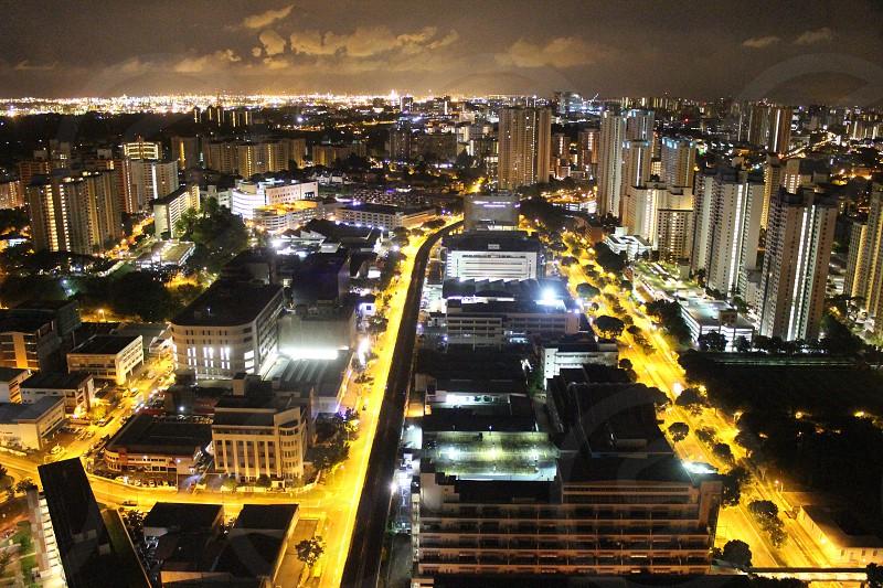 City light at night photo