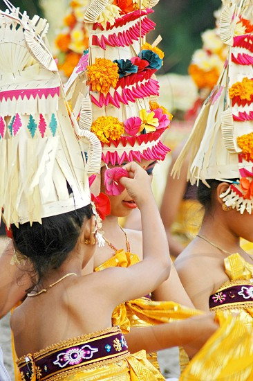 traditional ceremony in Bali photo