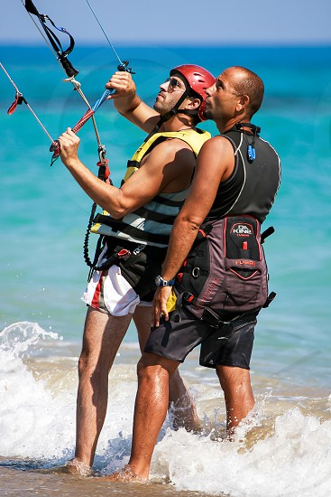 Learning to Kite Surf at Avdimou Beach photo