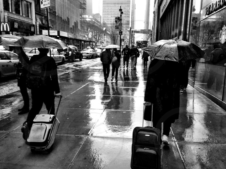 Rainy New York streets.  photo