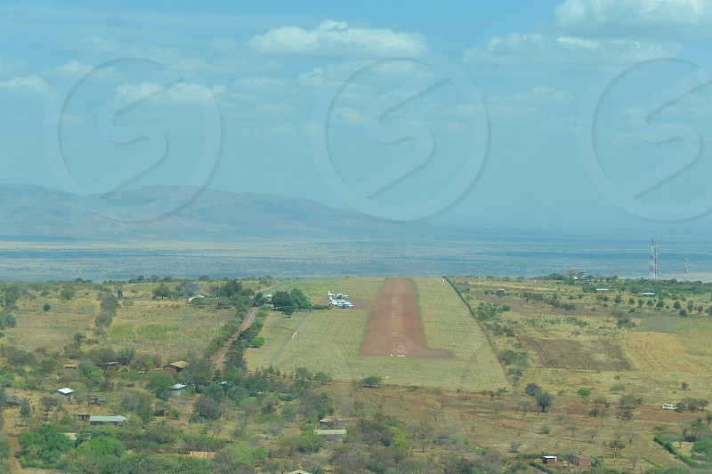Dirt Runway point of view - Africa photo