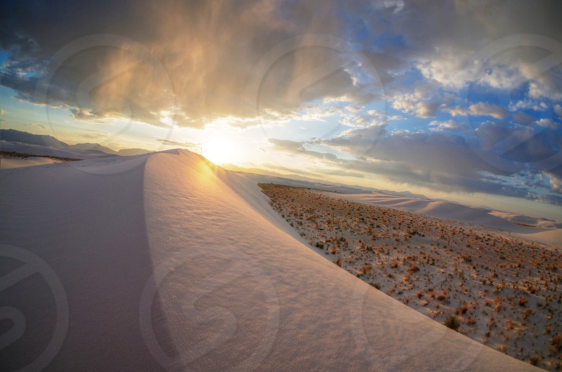 Sunset at White Sands NM photo