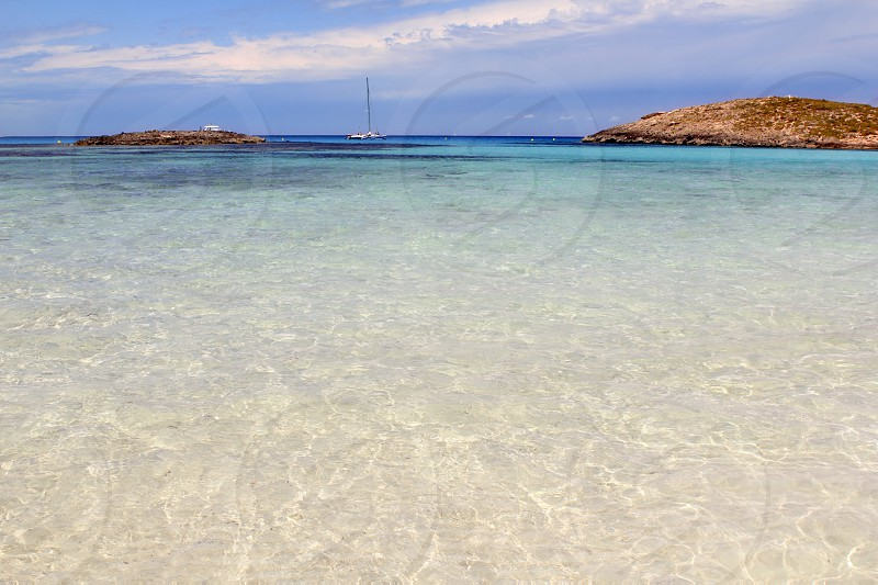 Illetes beach islands in Formentera Balearic islands Spain Illetas photo