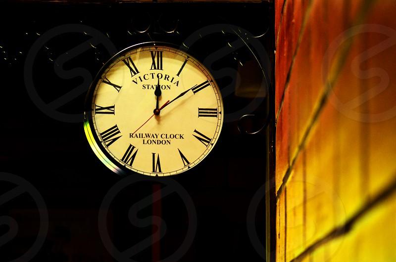 Victoria Station Clock. photo