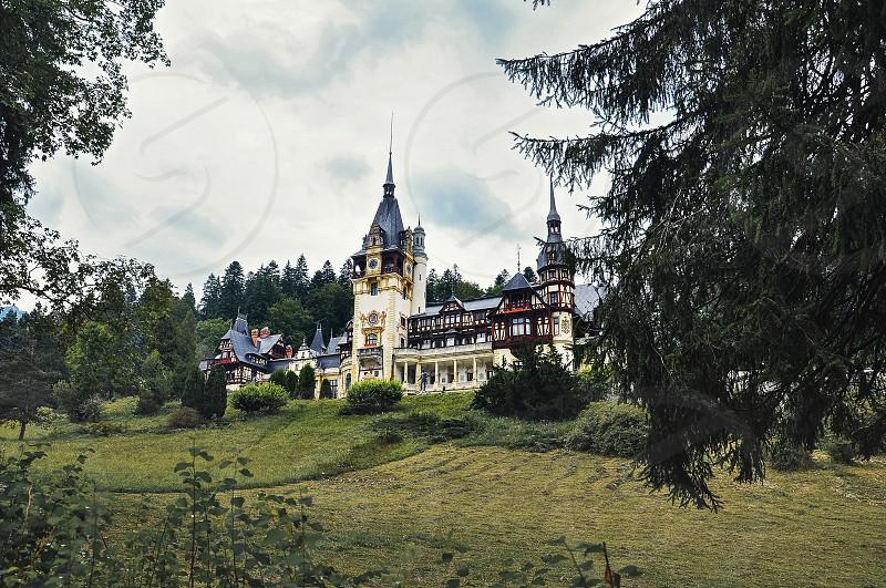 Romania Sinaia - September 42014: Peles Castle in autumn season. photo