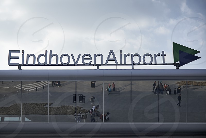 Signage at Eindhoven airport in the Netherlands photo