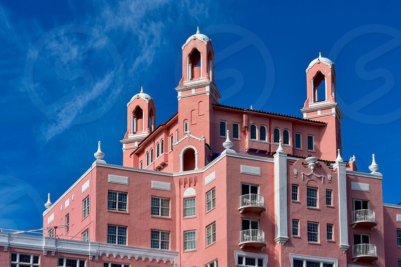 St. Pete Beach Florida. January 25 2019.  Top view of The Don Cesar Hotel. The Legendary Pink Palace of St. Pete Beach  of St. Pete Beach at Gulf Coast Beaches. photo