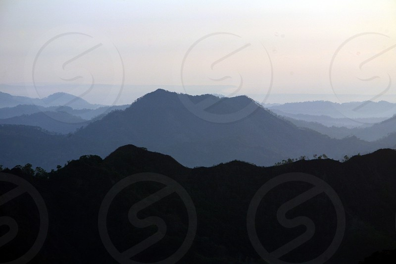 The Landscape with near the village of Moubisse in the south of East Timor in southeastasia.