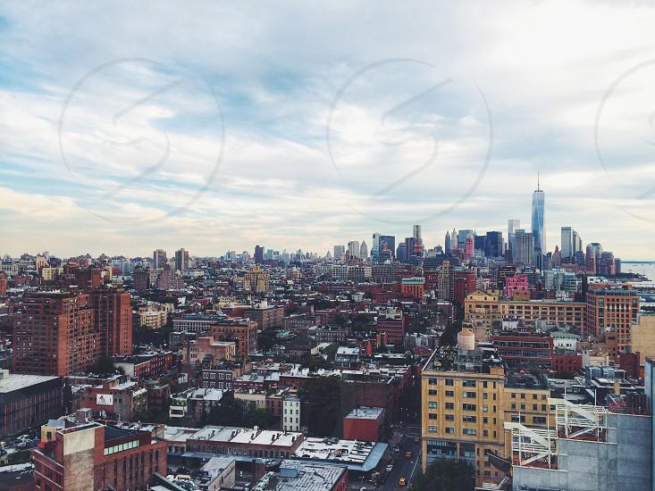 manhattan new york city skyline vs. photo
