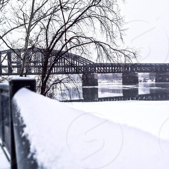 grey bridge photo photo