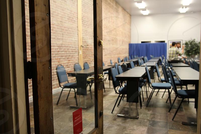 classroom universioty college test prep LSAT SAT brick class empty classroom photo