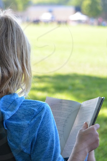 Young adult reading lifestyle  photo