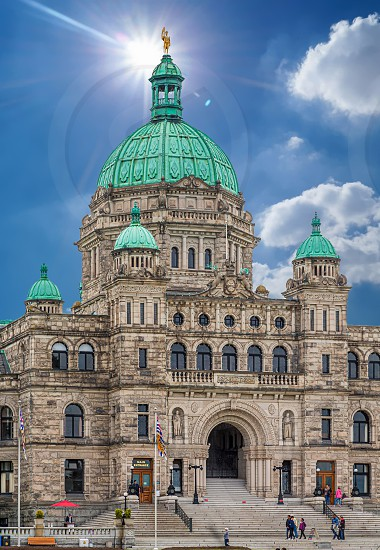 Beautiful Victoria British Columbia Parliament Building. There are a handful of govnerment buildings around the world that are truly works of art. This one in Victoria rivals most of them. photo