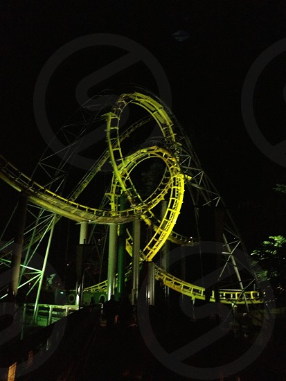 Local theme park's roller coaster Loch Ness Monster. photo
