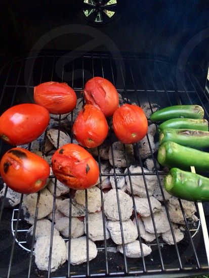 BBQ tomatoes jalapeño  photo