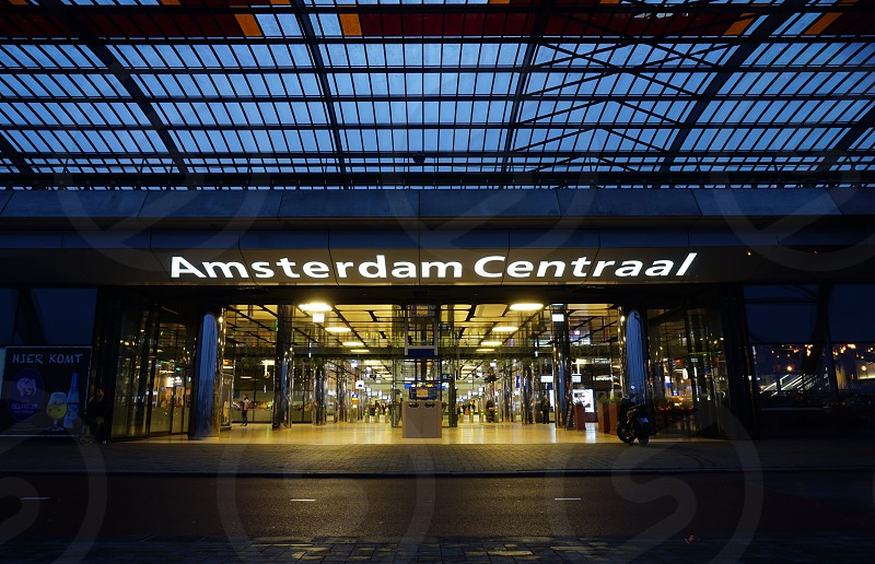 The Amsterdam Central Station (Amsterdam Centraal) photo