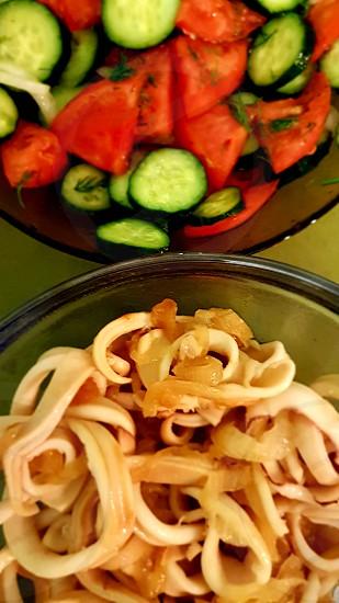 Salad vegetables food greens photo