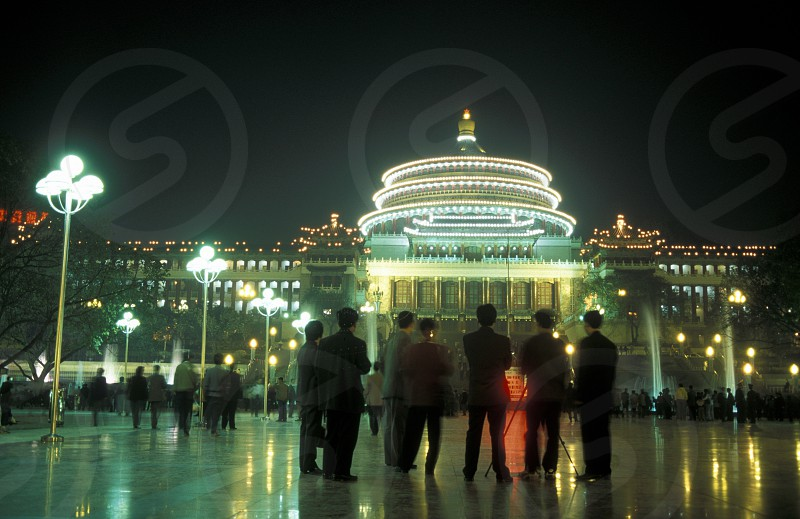 the city theater of Chongqing in the province of Sichuan in china in east asia.  photo