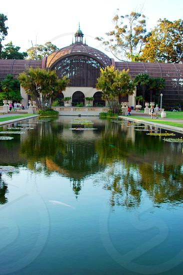 Botanical Garden and Reflection Pond at Balboa Park in San Diego California photo